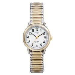 Women's Timex Easy Reader®  Expansion Band Watch - Two Tone T2H381JT