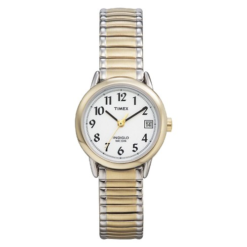 3b62ee1d6701 Women s Timex Easy Reader® Expansion Band Watch - Two Tone T2H381JT   Target