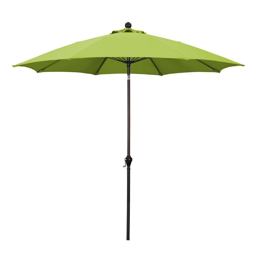9 39 Aluminum Crank Lift Patio Umbrella Green Astella