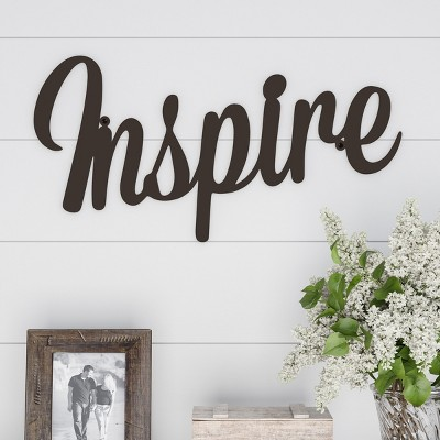Inspire  Decorative Wall Sign Natures Brown - Lavish Home