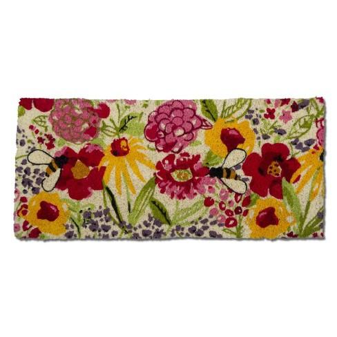 """TAG 1'6"""" x 3'3"""" Fresh Flowers Estate Coir Doormat Indoor Outdoor Welcome Mat - image 1 of 3"""