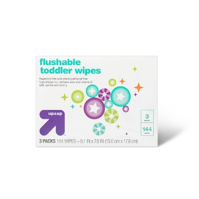 Toddler Unscented Wipes Flushable - 144ct - up & up™