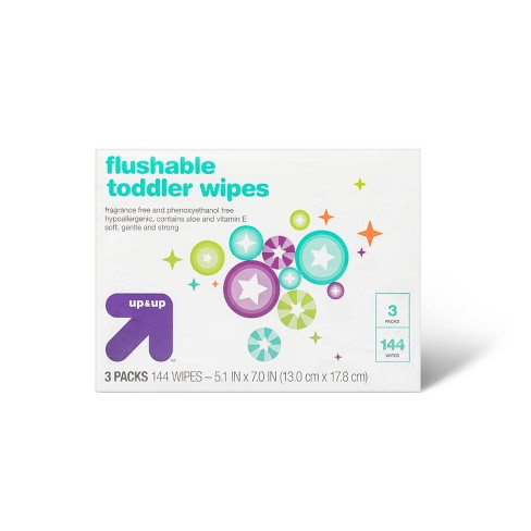 Fragrance-Free Flushable Toddler Wipes - Up&Up™ (Select Count) - image 1 of 3
