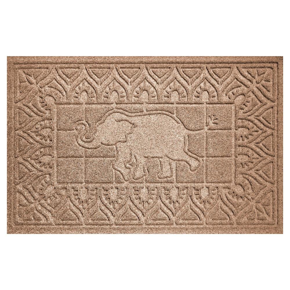 Image of Medium Brown Animals Pressed Doormat - (2'X3') - Bungalow Flooring