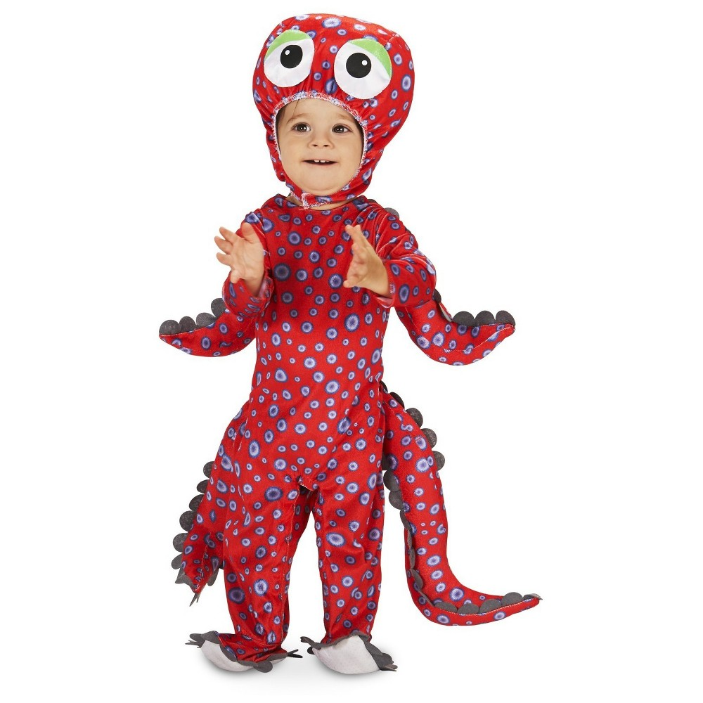 Swimming Octopus Baby Costume 6-12 Months, Infant Unisex, Size: 6-12M, Red