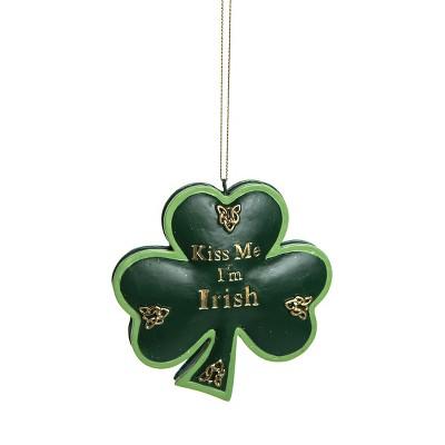 Gallerie II Kiss Me I'm Irish St. Patrick's Day Irish Fun Decor Christmas xmas Ornament