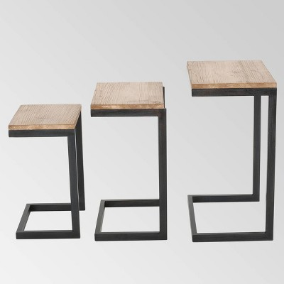 Tohono Nesting Tables Antique Firwood (Set of 3) - Christopher Knight Home