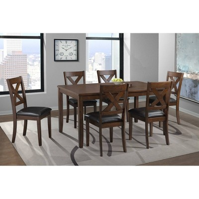 7pc Alexa Standard Height Dining Set Cherry Red - Picket House Furnishings