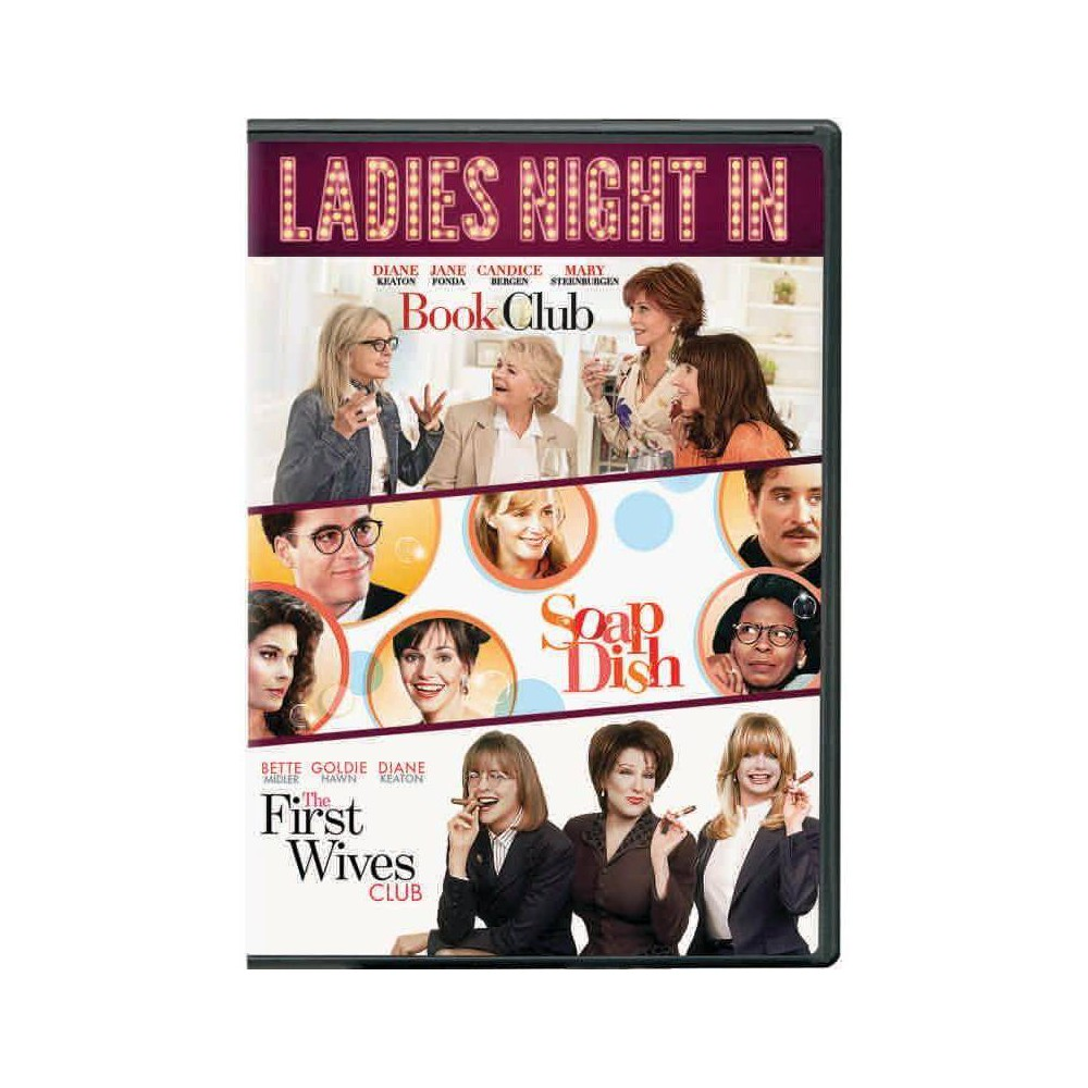 Ladies Night In 3 Movie Collection Includes Book Club First Wives Club Soapdish Dvd