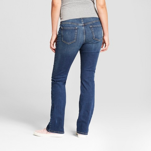 bab7fa5eecaf9 Maternity Crossover Panel Bootcut Jeans - Isabel Maternity By Ingrid &  Isabel™ Medium Wash : Target