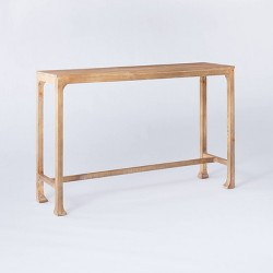 Belmont Shore Curved Foot Console Table Natural - Threshold™ designed with Studio McGee