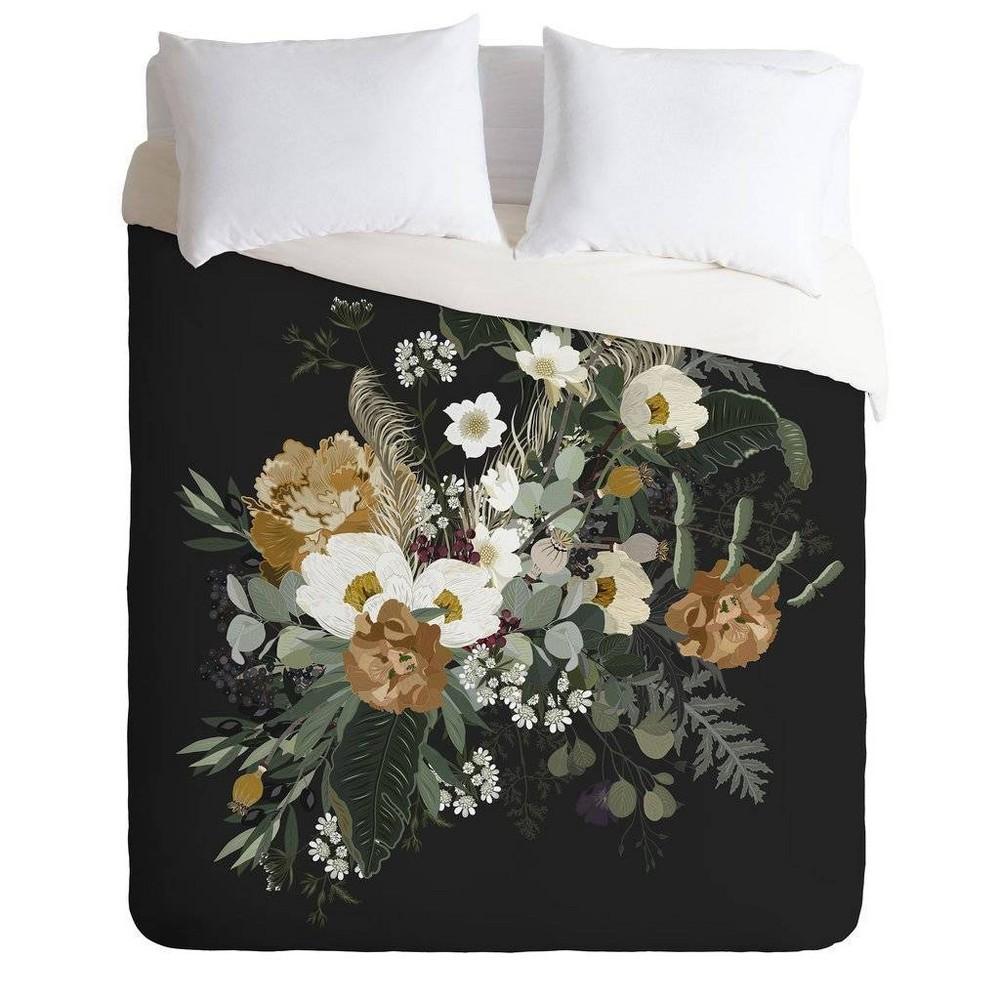 Twin Extra Long Iveta Abolina Comforter & Sham Set Black - Deny Designs