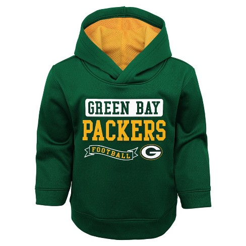 e889ecb54 Green Bay Packers Toddler Boys  Mesh Lined Hood Pullover Hoodie ...