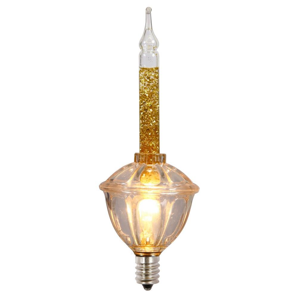 3ct C7 White/Gold Christmas Light Bulbs