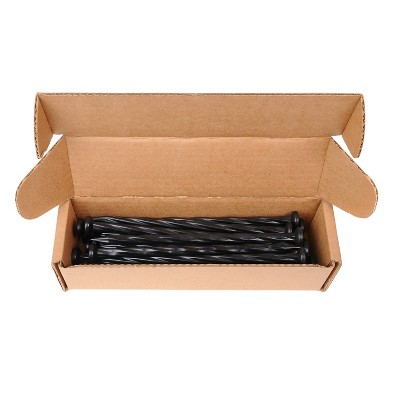 Dimex EasyFlex 1989N-24C Spiral Anchoring Heavy Duty Nylon Landscaping Garden Edging and Camping Tent Stake Pack, 24 Count, Black