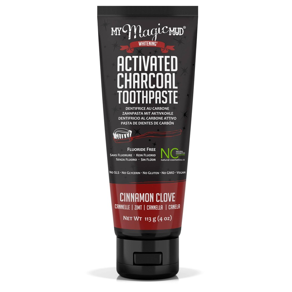 Image of My Magic Mud Activated Charcoal Toothpaste Cinnamon Clove - 4oz
