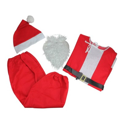 Northlight Red and White Unisex Adult Christmas Santa Hat Costume Accessory - One Size