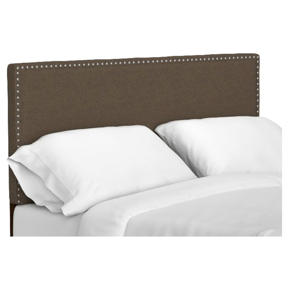 Adine Upholstered Linen Headboard - Brown (Full/Queen)