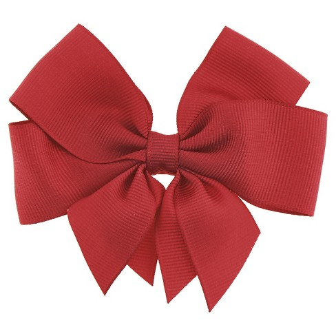 Girls' Bow Clip - Cat & Jack™ Red - image 1 of 3