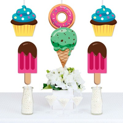 Big Dot of Happiness Sweet Shoppe - Donut, Ice Cream and Cupcake Decorations DIY Candy and Bakery Birthday Party or Baby Shower Essentials - Set of 20