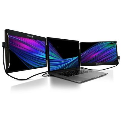 "SideTrak Swivel 12.5"" Attachable Triple Portable Monitor for Laptop - IPS Full HD 1920x1080 USB Displays - Black"