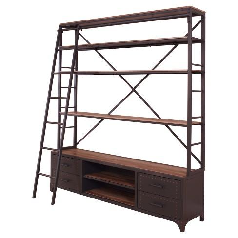 "Decorative Bookshelf 83"" Gray - Acme Furniture - image 1 of 4"