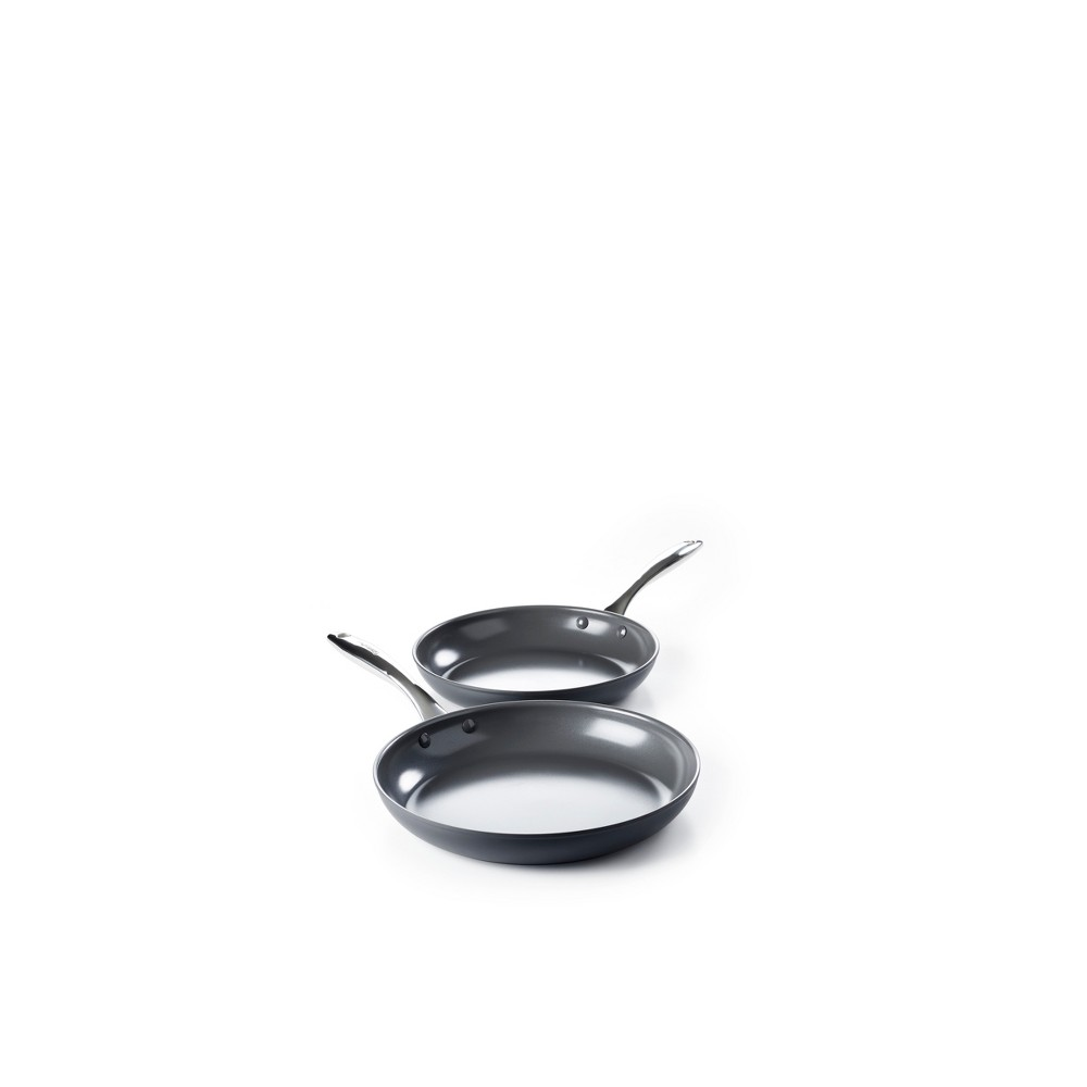 Image of GreenPan Madison 2pk Ceramic Non-Stick Frypan Set