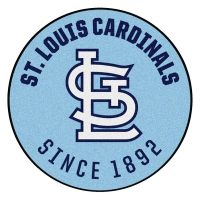 """MLB St. Louis Cardinals 27""""x27"""" 1976 Retro Collection Roundel Rug"""