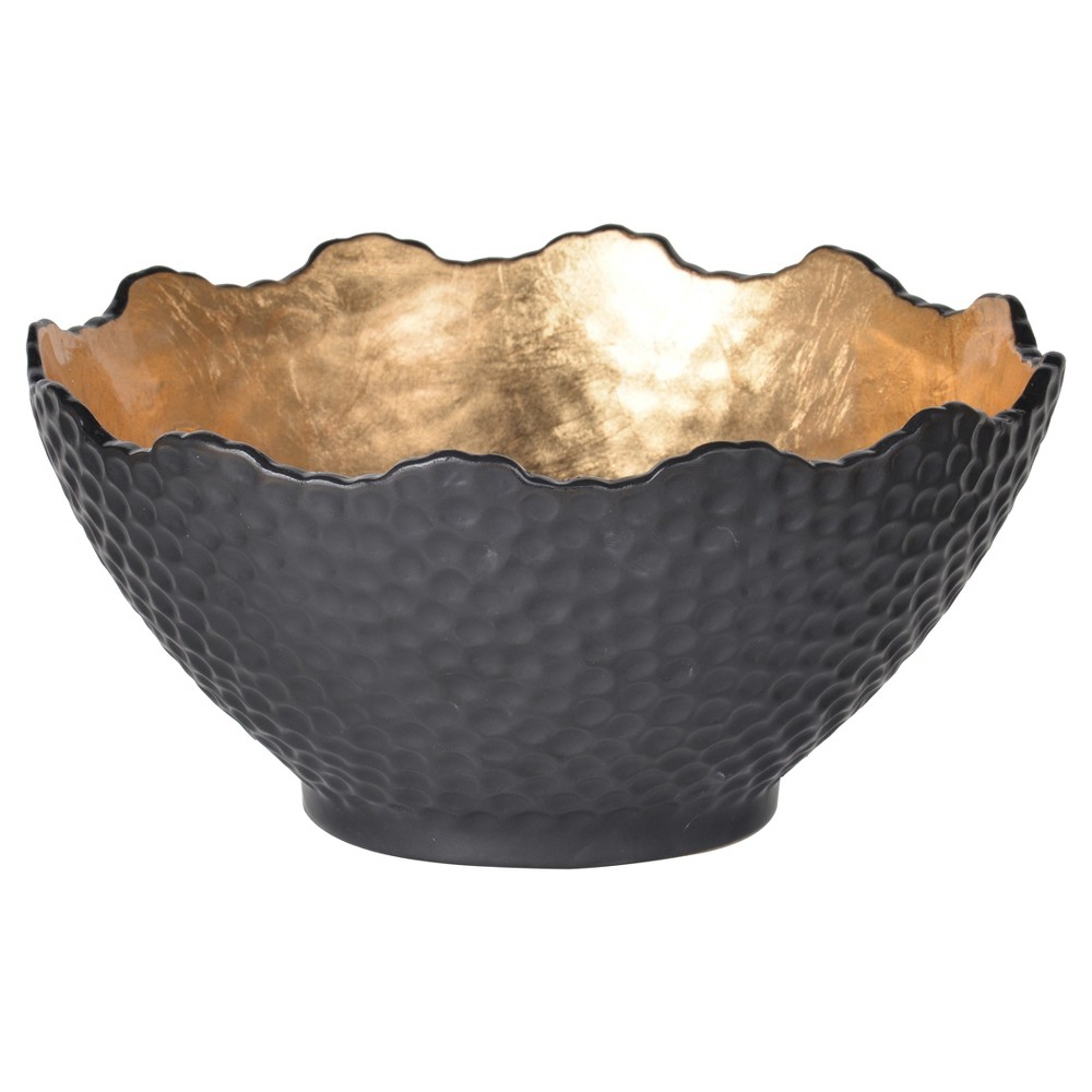 Image of Decorative Bowl - Black/Gold - A&B Home
