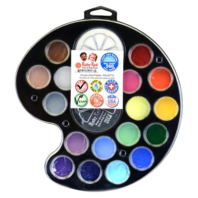 Face & Body Paint Kit Artist Palette 18pc - Ruby Red