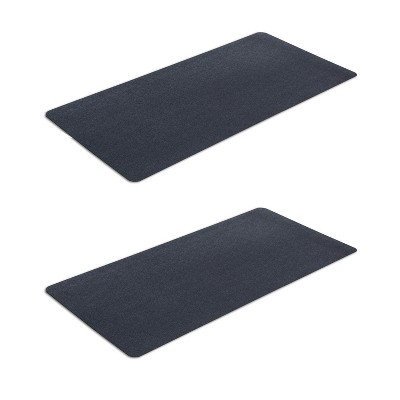 MotionTex Indoor At Home Fitness Equipment Floor Protection Exercise Mat for Treadmills, Ellipticals, and Bikes,  24 x 48 Inch  (2 Pack)