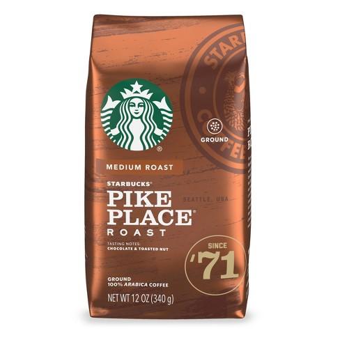 Starbucks Medium Roast Ground Coffee — Pike Place Roast — 100% Arabica — 1 bag (12 oz.) - image 1 of 3