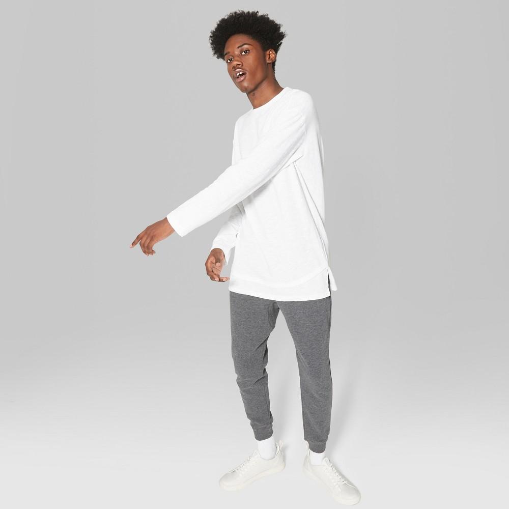 Men's Long Sleeve Layered Slub T-Shirt - Original Use True White 2XL