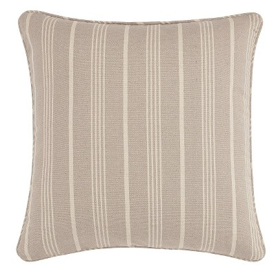 Linen Grainsack Stripe Throw Pillow Slipcover 18 x18  - Sure Fit®