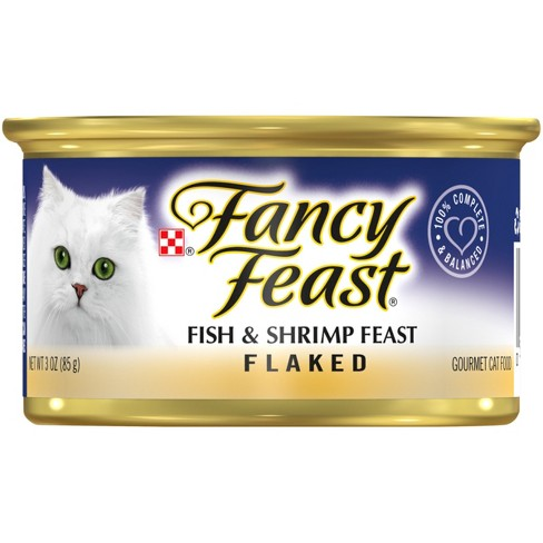 Purina® Fancy Feast Flaked Fish & Shrimp Feast Wet Cat Food - 3oz can - image 1 of 4