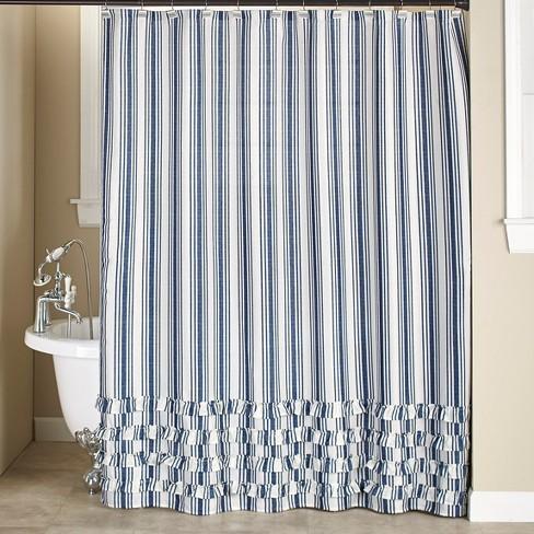 Lakeside Striped Farmhouse Bathroom, Country Decor Shower Curtains
