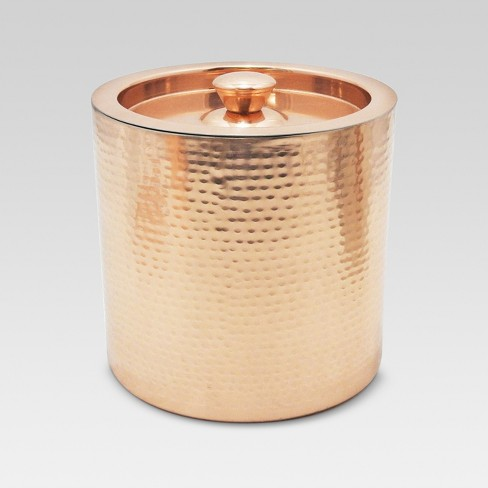 Ice Bucket 3qt Stainless Steel and Copper - Threshold™ - image 1 of 2