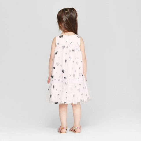 71553ad89c7b Mia & Mimi Toddler Girls' Butterfly A-Line Dress - Pink/Silver : Target