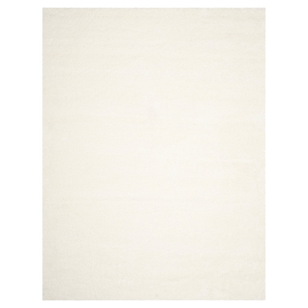 White Solid Loomed Area Rug - (6'7