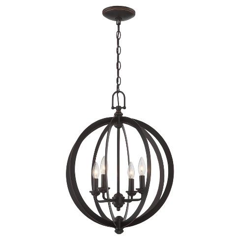 Ceiling Lights Oria Chandelier - Dark Bronze - Lite Source - image 1 of 2