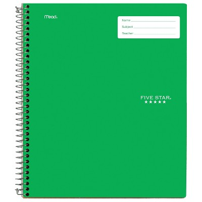 Five Star 1 Subject College Ruled Interactive Spiral Notebook (Color Will Vary)