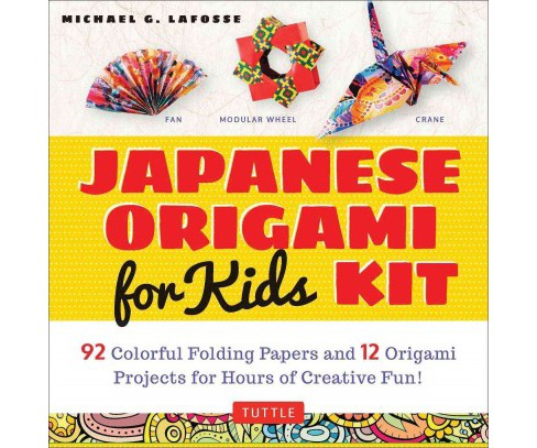 Japanese Origami Kit for Kids : 92 Colorful Folding Papers and 12 Original Origami Projects for Hours of - image 1 of 1