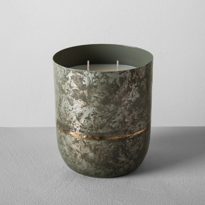 Galvanized Container Candle 25oz - Sugared Birch - Hearth & Hand™ with Magnolia