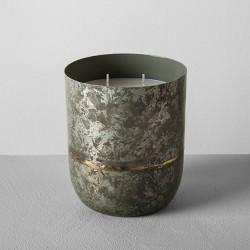 25oz Galvanized Container Candle Sugared Birch - Hearth & Hand™ with Magnolia