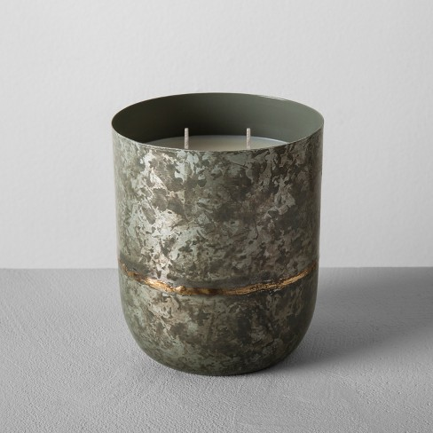 Galvanized Container Candle 25oz - Sugared Birch - Hearth & Hand™ with Magnolia - image 1 of 3