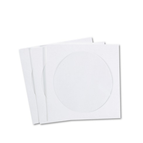 Quality Park CD/DVD Sleeves Moisture-Resistant TYVEK Material 100/Box R7050 - image 1 of 1