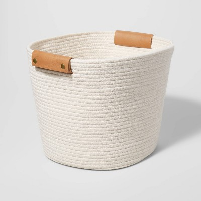 """13"""" Decorative Coiled Rope Basket - Threshold™"""