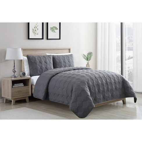 VCNY Home Diamond Embroidered Solid Quilt Set - image 1 of 3