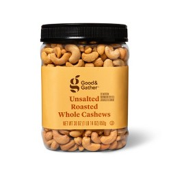 Unsalted Roasted Whole Cashews - 30oz - Good & Gather™