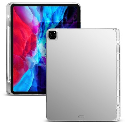 """Insten - Soft Transparent TPU Tablet Case For iPad Pro 12.9"""", with Pencil Holder, Shock Resistant, Slim Fit, Clear"""